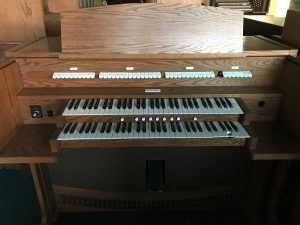 Allen Organ 420T oak-$4,100- self contained audio, 7 general pistons and 2 memories.