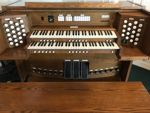 Allen Organ 3100 $4,950 this digital organ includes divided expression and crescendo pedals, moving drawknobs, many pistons and toe studs, card reader and 4 external speakers